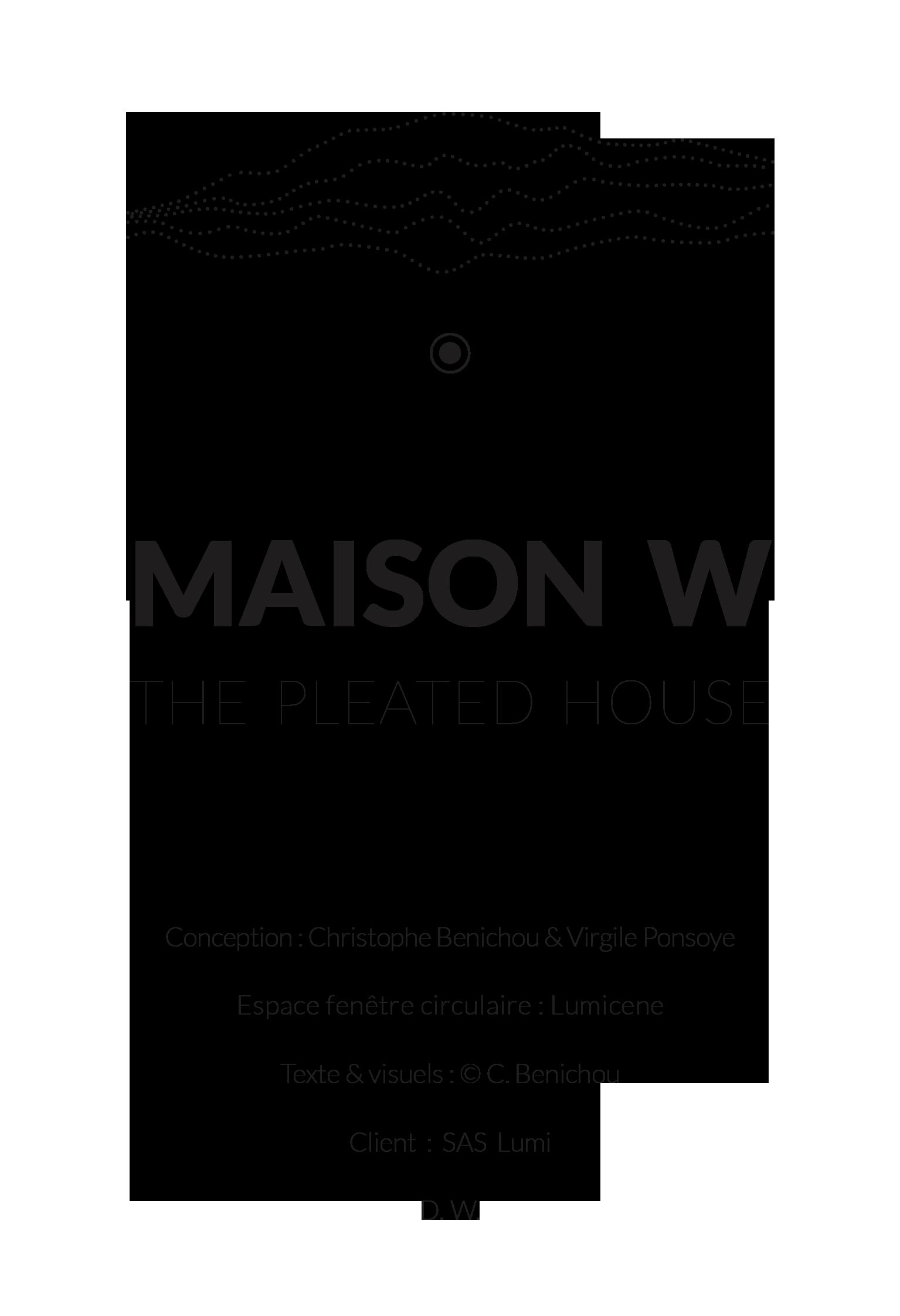 Maison W-the pleated house-logo-FR