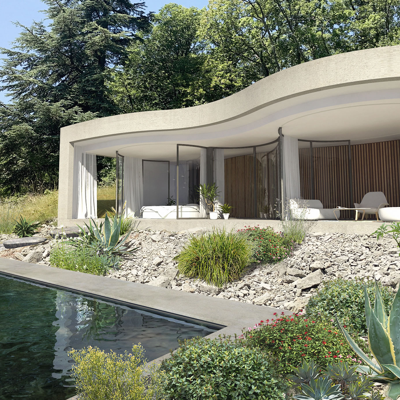 christophe-benichou-architectures-maisonW-the pleated house-exterior-ceddar